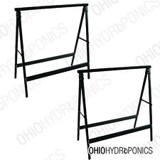 Non-Adjustable Saw Horse Tray Stands, 2 Pack Flood Tray Supports HEAVY DUTY