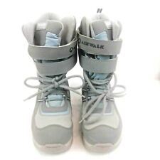 Airwalk Womens Thermolite Insulated Gray & Blue Winter Boots Size 8