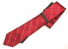 Tommy Hilfiger Men's Neckwear Dress Tie Natte Window Plaid100% silk NWT Ret $65