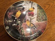 Danbury Mint Limited Edition America's Country Songbirds - Goldfinch Gathering