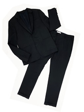 PIERRE BALMAIN Black Men's Suit SIZE 54 IT Blazer Pants Satin Trim Lapel NWT