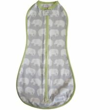 Woombie 5-13 lbs 0 - 3 month Swaddle Original Stardust Elephants Gray Newborn