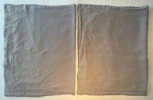 2 RESTORATION HARDWARE King Belgian Linen Pillow Shams Gray Stonewashed
