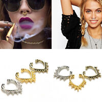 Fake Septum Nose Rings Faux Piercing Nose Studs Nose Hoop Ring Body Jewelry OS