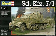 Revell 1/72 Sd Kfz 7/1 Blindados la mitad de camino con 20mm flak38