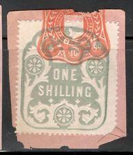 La Reina Victoria - 1s Azul ingresos en papel - 1899 de octubre