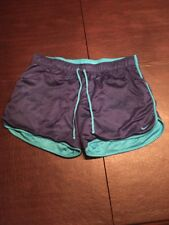 Nike Women's Purple And Blue Xl Fitted Workout/Exercise Short Shorts. Tl7