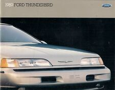 Ford Thunderbird 1989 USA Market Sales Brochure Standard LX Super Coupe