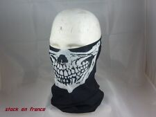 tour de cou cagoule,masque, tete de mort,gost,skull,moto, ski, paintball,airsoft