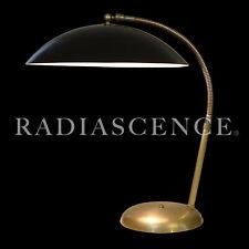 KURT VERSEN STREAMLINE ATOMIC SPACE AGE MODERN SAUCER BRASS TABLE LAMP SARFATTI.