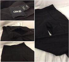 "Asos Stretch Pants Sz 4 Black Viscose Nylon Lycra 24"" Made in Romania YGI 65nn"