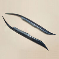 Carbon Fiber Eyelids Eyebrows Lids Headlight Molding Trim Covers For Mazda 6 03+