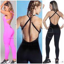 Womens BodySuit OS Supplex Lycra Pink Fitness NWT Leotard Workout Leggings Yoga