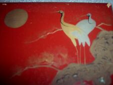 CHINESE LACQUER WOOD PAINTED DECORATED BOX