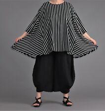 ♦ AKH Big Shirt Gr. 46,48,50,52,54,56,58,60,62 schwarz-weiß, gestreift ♦