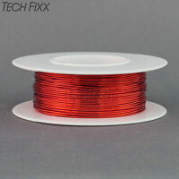 Magnet Wire 24 Gauge AWG Enameled Copper 100 Feet Coil Winding and Crafts Red