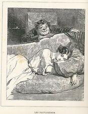 "Gavarni, Paul - ""les partageuses"" de ""Masques et rostros"" mostrarían 1853"