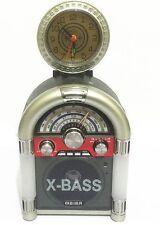 Radio Fm Dsp Lettore Mp3 Player Usb Microsd Orologio Vintage Meier M-U65 hsb
