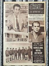 1965 EUROPEAN CUP Real Madrid v Kilmarnock / FAIRS CUP Barcelona v Royal Antwerp