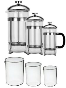 Gifted Boxed Toughened Glass Cafetiere 8 Cup 6 Cup 3 Cup Coffee Plunger