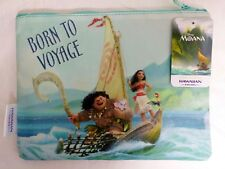 """New Disney Moana """"Born to Voyage"""" Makeup/Accessory Fabric Travel Cosmetic Bag"""