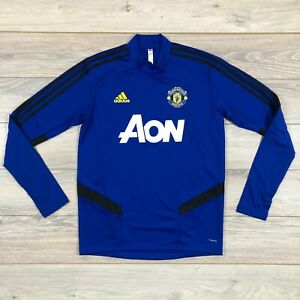 Manchester United 2019-2020 Training Top Blue Jacket Football Soccer size M