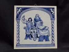 Royal Delft Pill / Apothecary / Pharmacy Tile: Doctrine of Four Humours, B-970