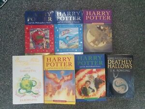 Harry Potter Book Set complete first editions
