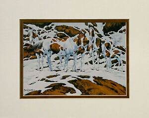 Bev Doolittle PINTOS Double Matted Print fits a standard 8x10 ready made frame