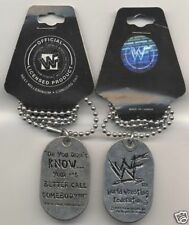 """""""Oh you Didn't Know..."""" New Age Outlaws WWF WWE Wrestling Dog Tag Next Millenium"""