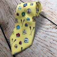 Mens Alynn New York Yellow LAX Lacross the neckwear Tie