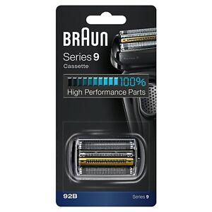 Braun 92B Series 9 Electric Shaver Replacement Foil & Cassette Cartridge - Black
