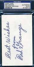 Red Grange PSA DNA Cert Hand Signed 3x5 Football Index Card Autograph