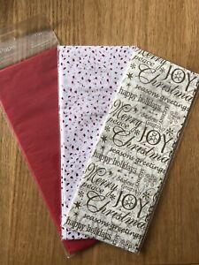 Red/Gold/White Christmas Tissue Paper x 3 Packs