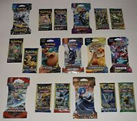 NEW Lot of 28 Assorted Authentic Pokemon Booster Packs 8 Different Sets