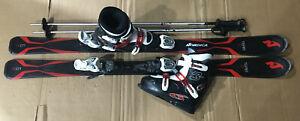 TOP Nordica Kinder/Jugend Carving Ski Set 130 cm Skischuhe Gr. 37-38 MP 245 P 13