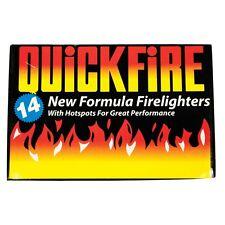 Quickfire 14 Pcs Pack of Firelighters Pack Hotspots Burners - New