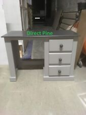 SHAFTESBURY 3 DRAWER DRESSING TABLE TWO TONE GREY NO FLAT PACKS
