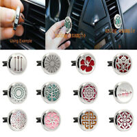 Stainless Car Air Auto Vent Freshener Essential Oil Gift Decor Clip Decoration
