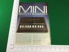 vintage advert Electro Harmonix Mini Synthesizer from 1980 synth synthesiser