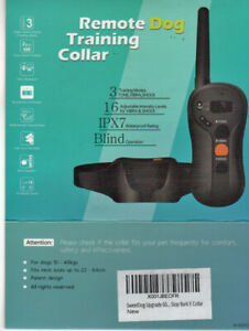 Electric Collar For Large Dogs With Remote Waterproof Training Educator Shock