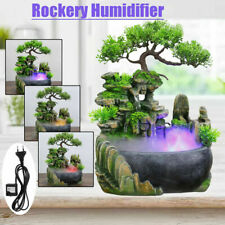 LED Modern Waterfall Desktop Fountain Landscape Practical Humidifier Home Decor
