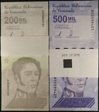 Venezuela 2020 / 2021 2 PACKS (200) PCS 200000 500000 Bolivares UNC NEW c