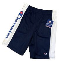 Champion Shorts Youth Large Navy Blue White Basketball Athletic Spellout