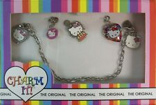 Hello Kitty CharmIt 5 Charm & Silver Chain Link Bracelet Set