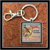 Vintage DuPont Shotgun Shell Box Photo Keychain Collectible Gift Quail Hunting