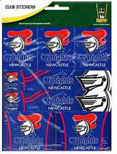 Newcastle Knights NRL Team Logo Sticker Sheet * 7 Stickers Per Sheet