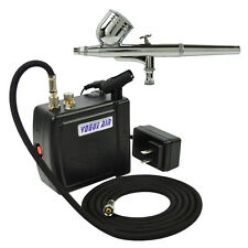 NEW AIRBRUSH KIT COMPRESSOR NAIL ART TATTOO DUAL ACTION SPRAY AIR BRUSH GUN SET