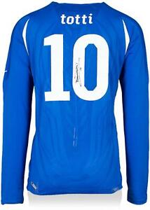 Francesco Totti Italy National Team Autographed Home Jersey