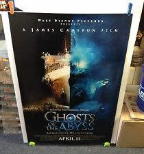 Disney's GHOSTS of the ABYSS Movie Poster 27x40 One Sheet **2-Sided